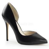 Musta Matta 13 cm AMUSE-22 klassiset avokkaat kengät naisten