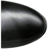 Musta Matta 13 cm ELECTRA-3050 korolliset ylipolvensaappaat