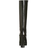 Musta Matta 13 cm Pleaser ELECTRA-2020 Platform Naisten Saappaat