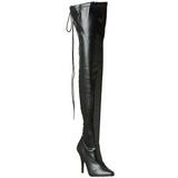 Musta Matta 13 cm SEDUCE-3063 overknee pitkät saappaat