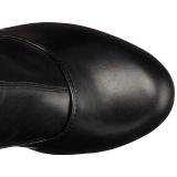 Musta Matta 15,5 cm DELIGHT-3000 korolliset ylipolvensaappaat