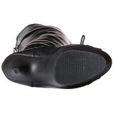 Musta Matta 15 cm DELIGHT-3025 korokepohja pitkät saappaat