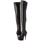 Musta Matta 15 cm DELIGHT-3050 korokepohja pitkät saappaat