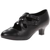 Musta Matta 5 cm retro vintage DAME-02 Naisten kengät avokkaat