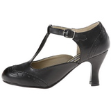Musta Matta 7,5 cm FLAPPER-26 Pumps Naisten Kengät