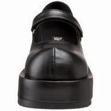 Musta Matta 8,5 cm DOLLIE-01 Gootti Avokkaat Kengät Platform