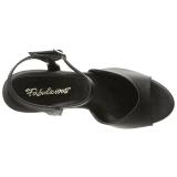 Musta Matta 8 cm BELLE-309 Naisten Sandaletit Korkea