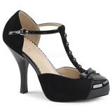 Musta Mokkanahka 11,5 cm PINUP-02 suuret koot avokkaat kengät