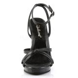Musta Nahka 12 cm FLAIR-436 Naisten Sandaletit Korkea