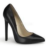 Musta Nahka 13 cm SEXY-20 Pumps Naisten Kengät