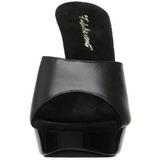 Musta Nahka 14 cm COCKTAIL-501L Korkeakorkoiset Muulit Kengät