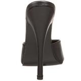 Musta Nahka 15 cm DOMINA-101 Korkeakorkoiset Muulit Kengät