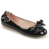 Musta OLIVE-03 ballerinat matalat kengät joissa solmuke