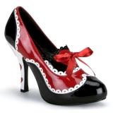 Musta Punainen 10,5 cm QUEEN-03 naisten kengät korkeat korko