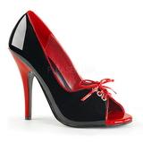 Musta Punaiset 12,5 cm SEDUCE-216 naisten kengät korkeat korko