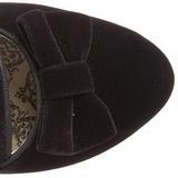 Musta Sametti 6,5 cm BORDELLO WHIMSEY-115 Nilkkasaappaat