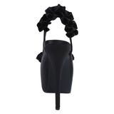 Musta Satiini 14,5 cm TEEZE-56 Korkeakorkoiset Kengät