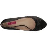 Musta Satiini 5 cm FAB-422 suuret koot avokkaat kengät