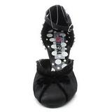 Musta Satiini 8 cm RETRO-03 Naisten kengät avokkaat