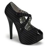 Musta Siveltiin 14,5 cm Burlesque TEEZE-23 naisten kengät korkeat korko