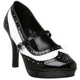 Musta Valkoinen 10,5 cm CONTESSA-06 naisten kengät korkeat korko