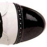 Musta Valkoinen 10,5 cm EXOTICA-1050 korokepohja nilkkurit korkeat korko