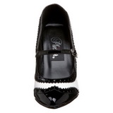Musta Valkoinen 10,5 cm VANITY-442 Naisten kengät avokkaat