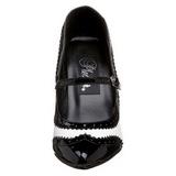 Musta Valkoinen 10,5 cm VANITY-442 Pumps Naisten Kengät
