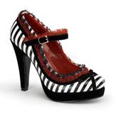 Musta Valkoinen 11,5 cm BETTIE-18 naisten kengät korkeat korko