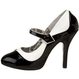 Musta Valkoinen 11,5 cm rockabilly TEMPT-07 naisten kengät korkeat korko