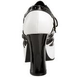 Musta Valkoinen 11 cm GANGSTER-15 naisten kengät korkeat korko