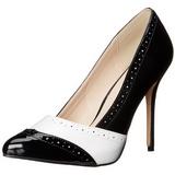 Musta Valkoinen 13 cm AMUSE-26 naisten kengät korkeat korko