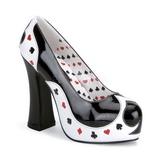 Musta Valkoinen 13 cm POKER-21 naisten kengät korkeat korko