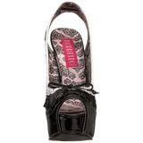 Musta Valkoinen 14,5 cm Burlesque TEEZE-17 naisten kengät korkeat korko