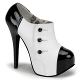 Musta Valkoinen 14,5 cm Burlesque TEEZE-20 naisten kengät korkeat korko