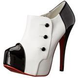 Musta Valkoinen 14,5 cm TEEZE-20 naisten kengät korkeat korko