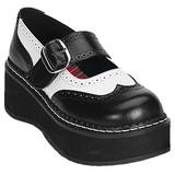 Musta Valkoinen 5 cm EMILY-302 lolita kengät platform paksut pohjat