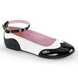 Musta Valkoinen STAR-22 gootti ballerina kengät matalat kengät
