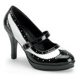Musta Valkoiset 10,5 cm CONTESSA-06 naisten kengät korkeat korko