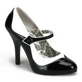Musta Valkoiset 11,5 cm rockabilly TEMPT-07 naisten kengät korkeat korko