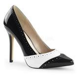 Musta Valkoiset 13 cm AMUSE-26 naisten kengät korkeat korko