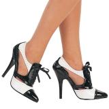 Musta Valkoiset 13 cm SEDUCE-458 Oxford naisten kengät korkeat korko