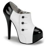 Musta Valkoiset 14,5 cm Burlesque TEEZE-20 naisten kengät korkeat korko