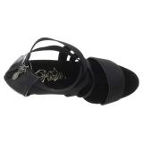 Musta joustava nauha 15 cm DELIGHT-669 korokepohjaiset pleaser kengät