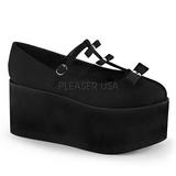 Musta kangas 8 cm CLICK-08 lolita kengät gootti platform