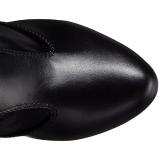 Musta keinonahka 12,5 cm EVE-312 leveyttä vasikat pitkävartiset saappaat
