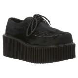 Mustat 7,5 cm CREEPER-202 rockabilly creepers kengät naisten platform