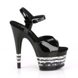 Mustat sandaalit 18 cm ADORE-709LNRS korolliset sandaalit platform