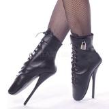 Nahka 18 cm BALLET-1025 fetissi baletti nilkkurit