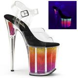 Neon 20 cm FLAMINGO-808SRS Sandaalit Platform Joissa Kristalli
